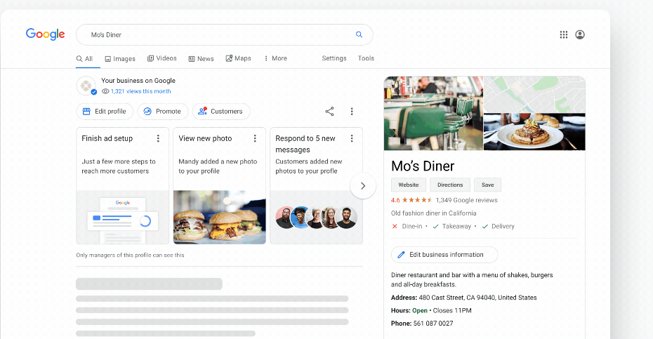 Google My Business August 2020 Updates Example